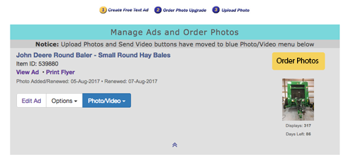 Upgrade to a Photo Ad